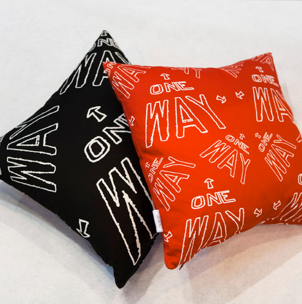 No Way Cushion part of the Urban London Project at 100% Design Exhibition - London