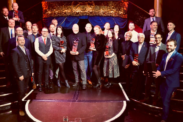 Winners at The Print Solutions Awards Held at The Cafe De Paris in London. Hosted by Earth Island Publishing