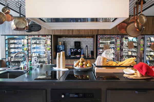 Vending Machine Design in Kitchen by ATADesigns at the Qbic Hotel - London
