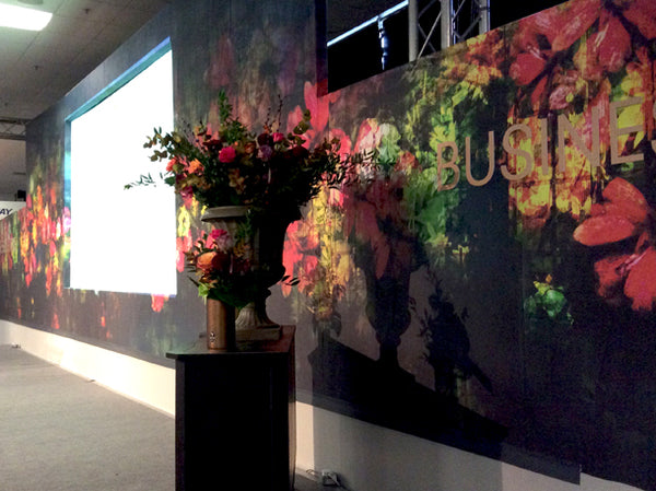 Regents Floral Expression Mural Design by ATADesigns at the Independent Hotel Show - Business Theatre - London