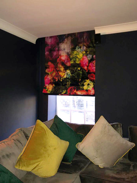Regents Floral Expression Roman Blind Design by ATADesigns in Residential Project