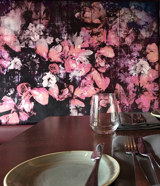 The Northgate featuring Regents Floral Expression Fabric Design by ATADesigns Upholstered on to Banquet Seatings. Interior Design by Matt Rawlinson of Raw Design