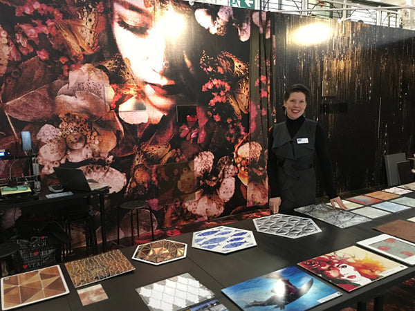 She mural design by ATADesigns at the Surface Design Show 2019 with Jennifer Castodi