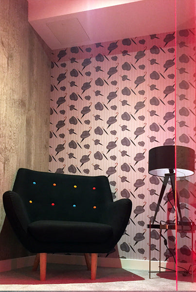 The Bowler Wallpaper Design by ATADesigns in Office Project by Interaction workplace design and build experts