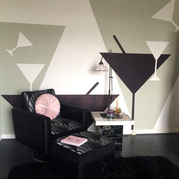 Tipsy Art Deco Mural by ATADesigns for Residential Project