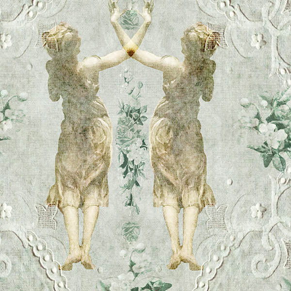 Lace Ladies Wallpaper (green) by ATADesigns