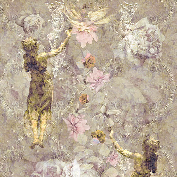 Pearlescent Ladies Wallpaper (golden-yellow) by ATADesigns
