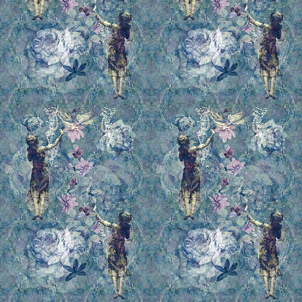 Pearlescent Ladies Wallpaper (boutique-blue) by ATADesigns