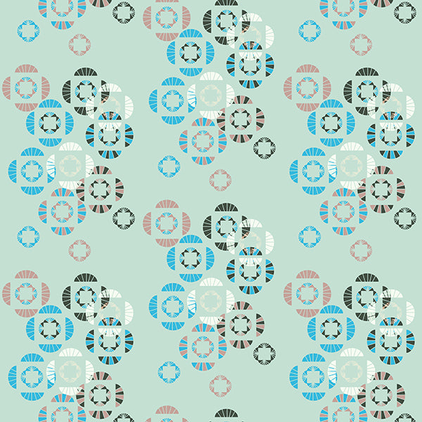 Abstract Floral Wallpaper 4 (blue) by ATADesigns