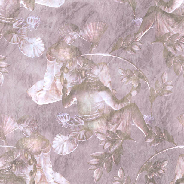 Charles and Nell Wallpaper (antique-pale-pink-pearl)Funky Abstract Wallpaper by ATADesigns