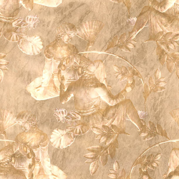 Charles and Nell Wallpaper (gold-pearl)Funky Abstract Wallpaper by ATADesigns