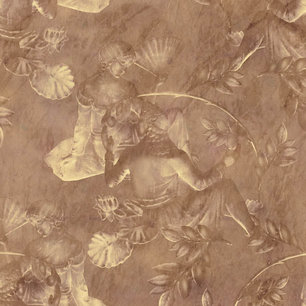 Charles and Nell Wallpaper (golden-brown-pearl)Funky Abstract Wallpaper by ATADesigns