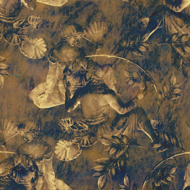 Charles and Nell Wallpaper (period-brown-pearl)Funky Abstract Wallpaper by ATADesigns