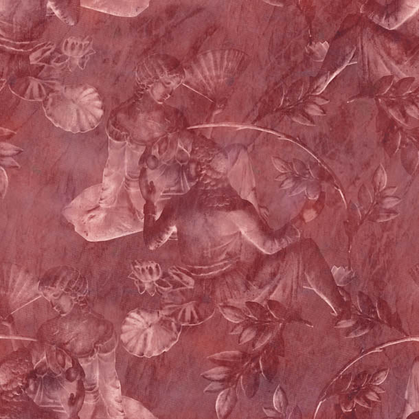 Charles and Nell Wallpaper (rustic-red-pearl)Funky Abstract Wallpaper by ATADesigns