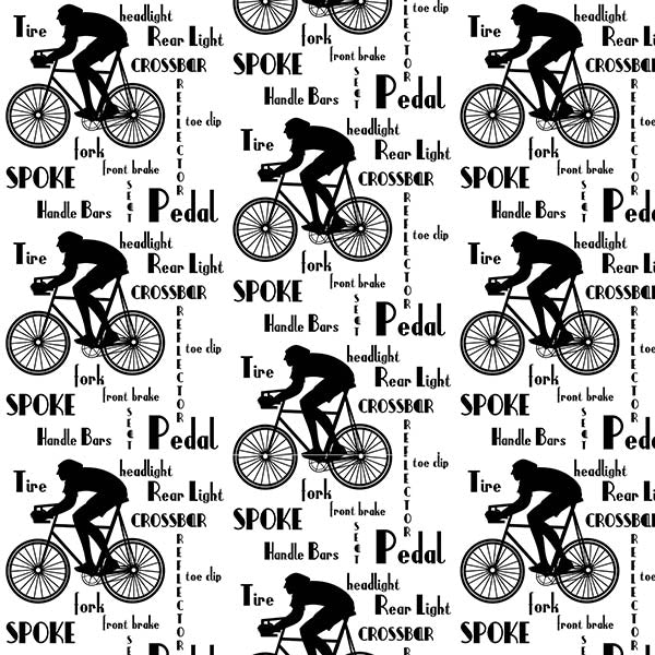 Cyclist Wallpaper (black-on-white) by ATADesigns