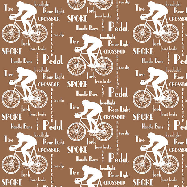 Cyclist Wallpaper (brown) by ATADesigns