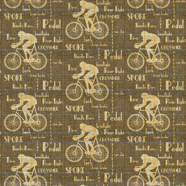 Cyclist Wallpaper (dark-brown) by ATADesigns