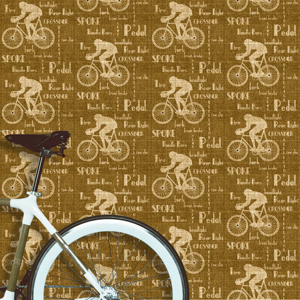Cyclist Wallpaper (golden-brown) by ATADesigns