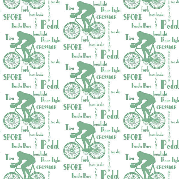 Cyclist Wallpaper (green) by ATADesigns