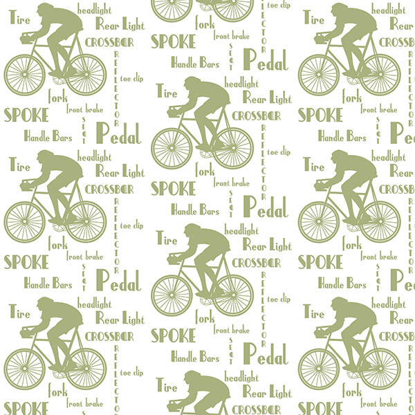 Cyclist Wallpaper (olive-green) by ATADesigns