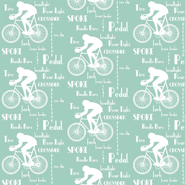 Cyclist Wallpaper (spearmint) by ATADesigns