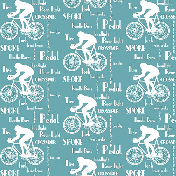 Cyclist Wallpaper (urban-blue-green) by ATADesigns