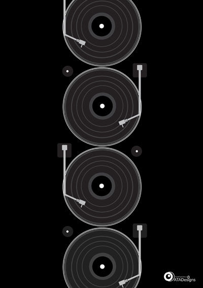 Decks Retro Art Print (bkacj-grey)