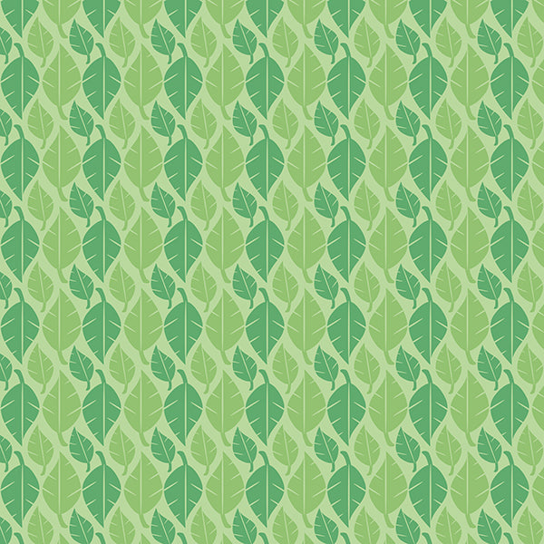 Fallen Leaves (green-mix-on-pastel) Wallpaper by ATADesigns