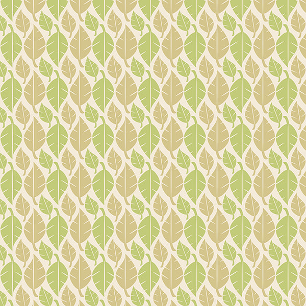 Fallen Leaves (lime-green-on-light) Wallpaper by ATADesigns