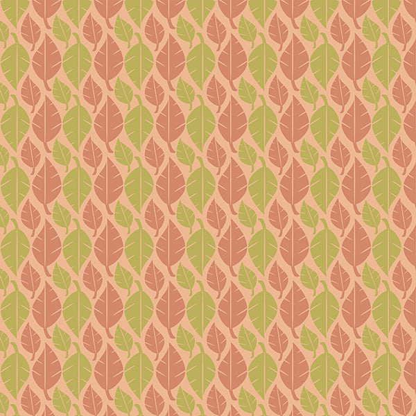 Fallen Leaves (peach-lime-mix-on-pastel) Wallpaper by ATADesigns