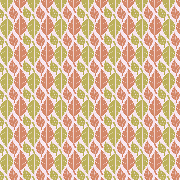 Fallen Leaves Wallpaper (peach-n-lime-green) by ATADesigns