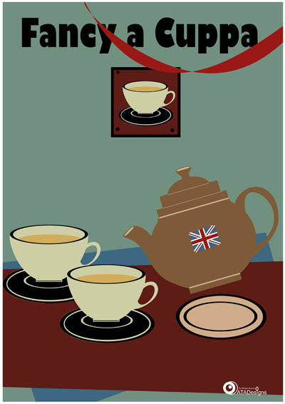 Fancy A Cuppa All Things British Art Print