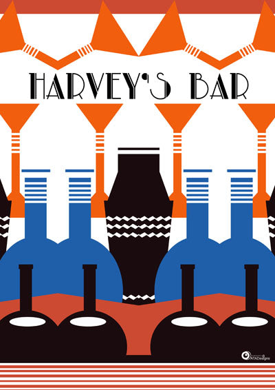 Harvey's Bar Art Deco Art Print