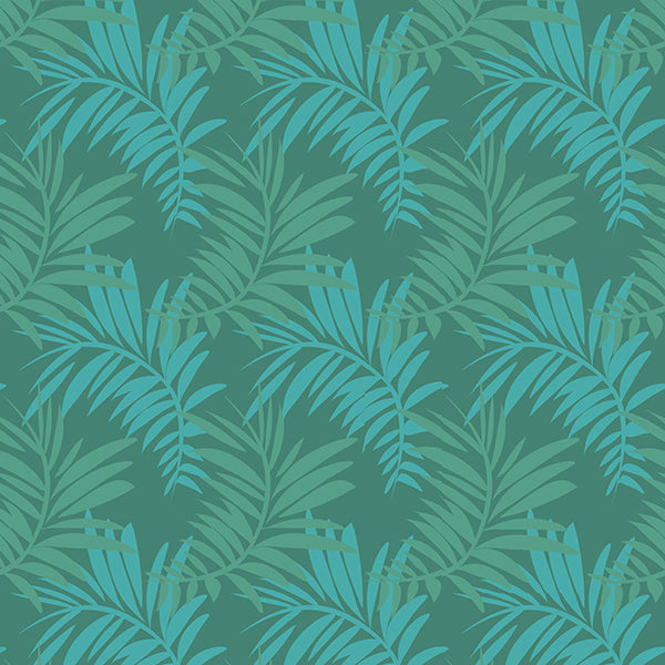 Palm Leaves Wallpaper 1 (pastel-blue-green-mix) by ATADesigns