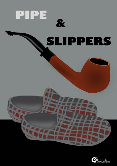 Pipe and Slippers All Things British Art Print