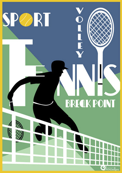 Tennis Volley Sport Art Print