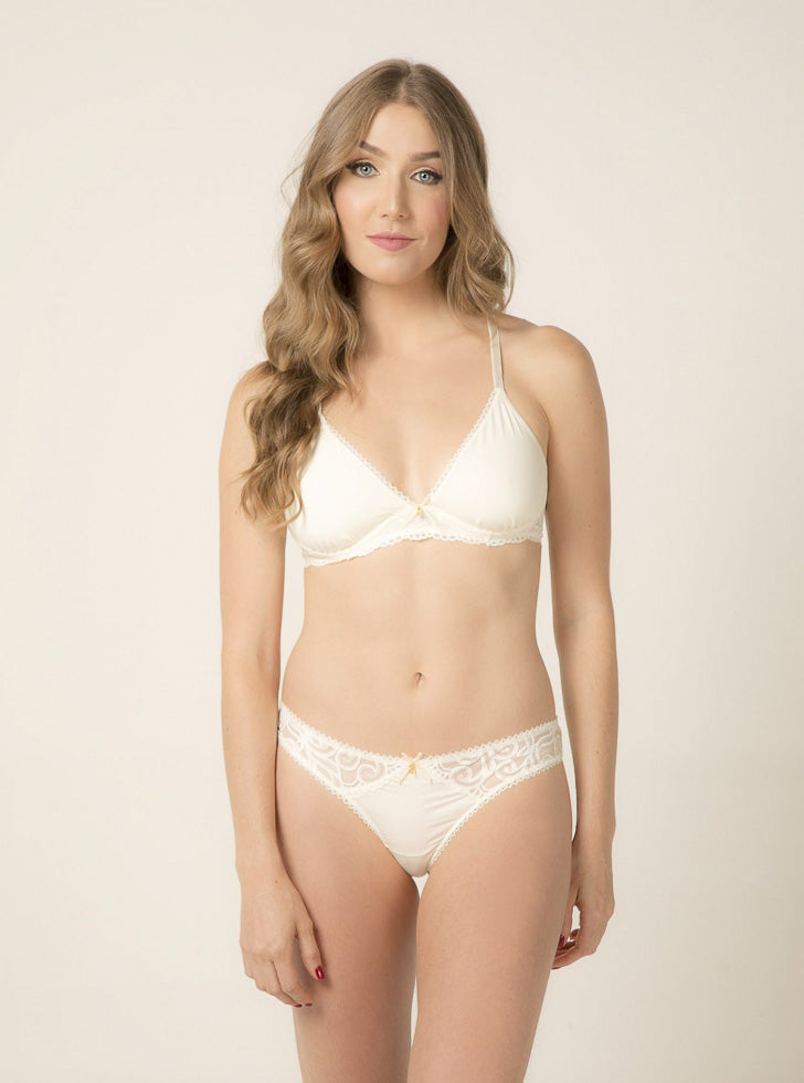 Ivory Everyday Set-bralette set-Scarlet Rose Lingerie