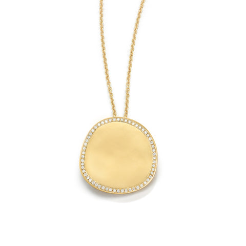Origin Pendant with Diamond Pave