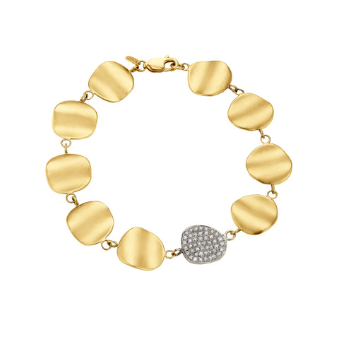Origin Link Bracelet with Diamond Pavé