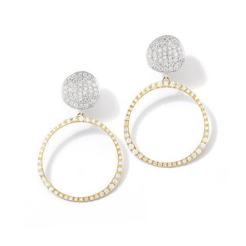 Petite Origin Hoops with Diamond Pavé