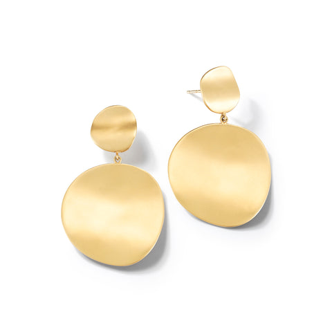 Origin Double Earrings with Small Stud and Large Disc