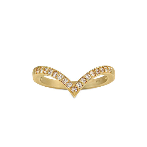Diamond Chevron Stack Ring