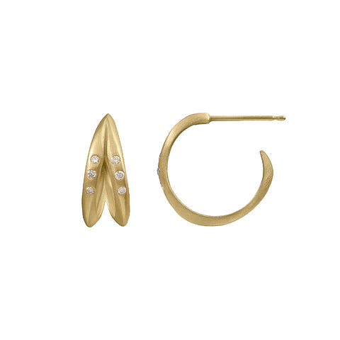 Anniversary Petite Double Halo Hoops with Diamonds