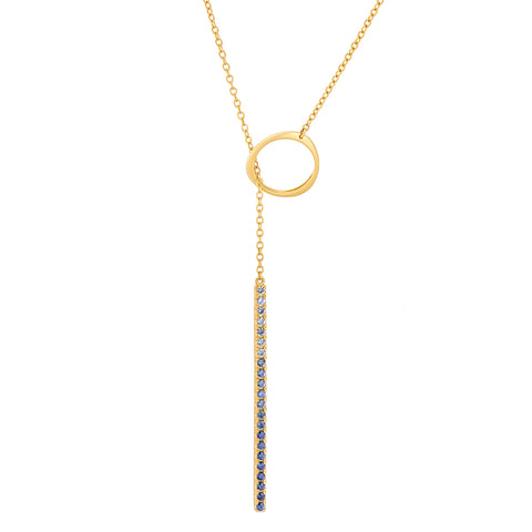 Ombre Sapphire Lariat Necklace