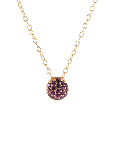 February Birthstone Dot Pendant