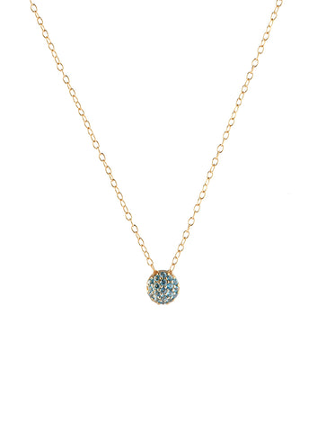 March Birthstone Dot Pendant