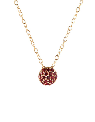 January Birthstone Dot Pendant
