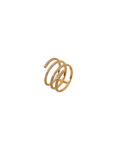 Diamond Coil Ring