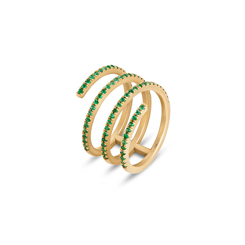 Emerald Coil Ring