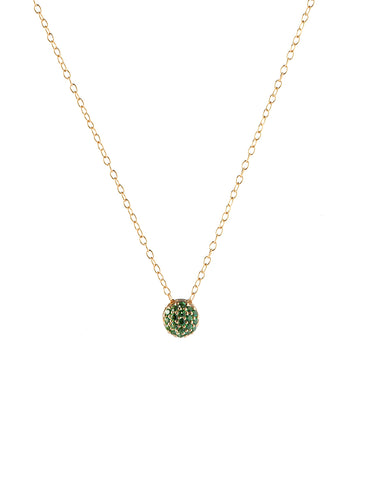 May Birthstone Dot Pendant